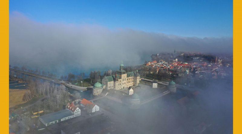 Väderbild: Vadstena i dimma (mars)