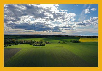Väderbild: Fälten utanför Vadstena (maj)