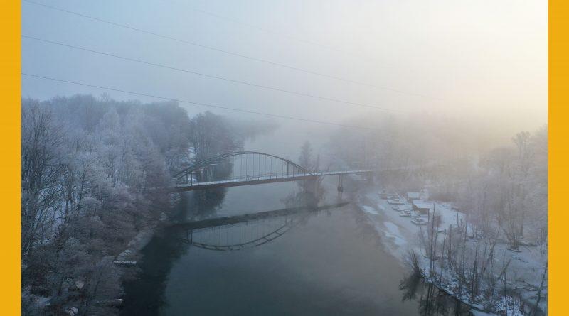 Väderbilden: Slaggbron i dimma under måndagsmorgonen (februari)