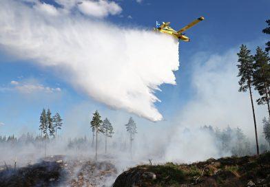Ulrika: Brandflyg hjälpte till vid skogsbranden
